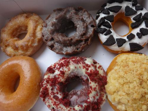 My very own Krispy Kreme donuts.