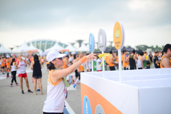 Dedicated waste bins were installed at the event site to discourage littering. Photo: RUN350