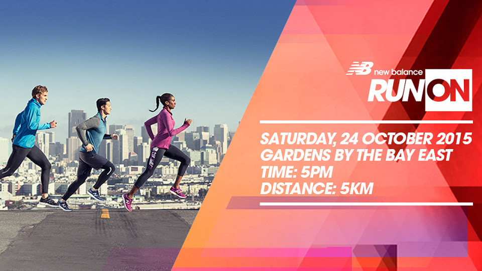 NB Run On takes place for the first time in Singapore - on 24 October.