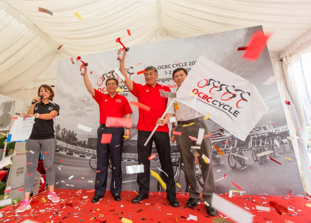 OCBC Cycle was launched this morning. (Photo Credit: OCBC Cycle 2016)