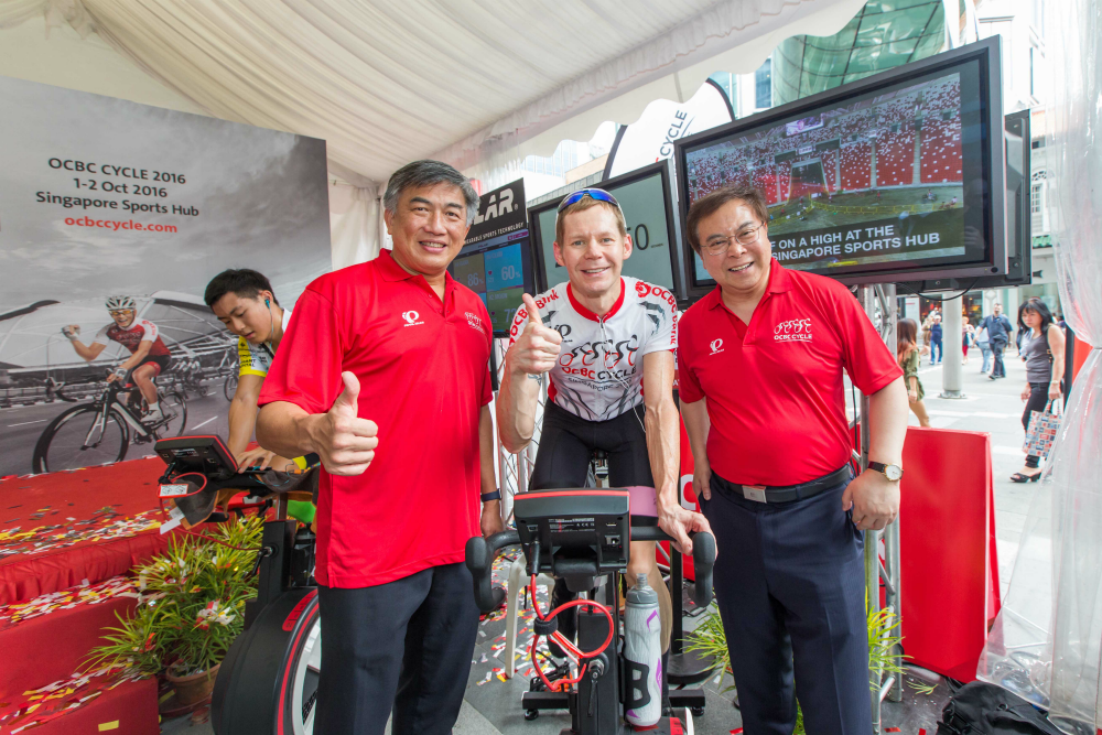The OCBC rep, McDonald. [Photo credit to OCBC Cycle].