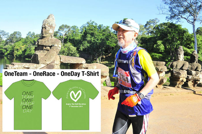 The tee-shirt that runners will get for the race.