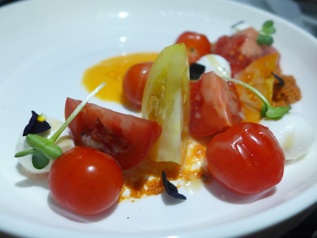 Assorted tomatoes salad.