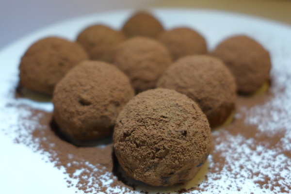 Dark Chocolate Truffles.