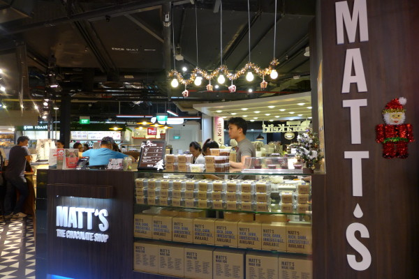 Matt also has a takeaway store at One Raffles Place.