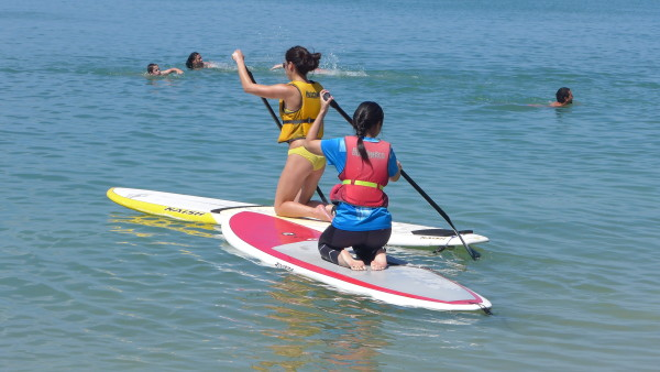 Heading out on the SUP boards.
