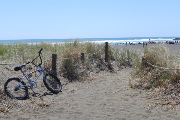 Cycling to the beach, and then going for a swim, is a good form of brick training for triathlon.
