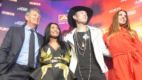 The judges for Asia's Got Talent - from left to right> Foster, Anggun, Wu, Chrisholm.