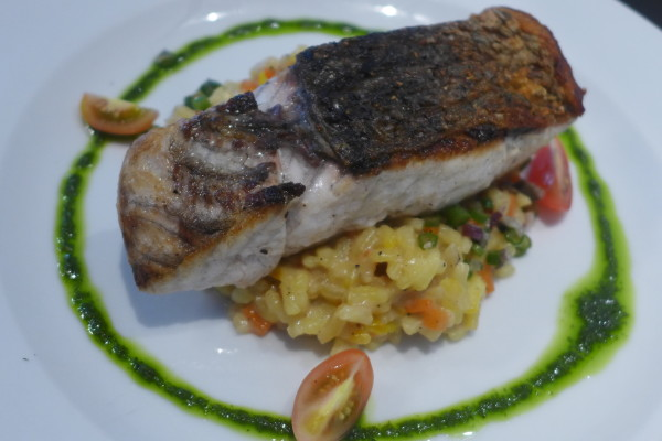 Pan Seared Sea Bass.