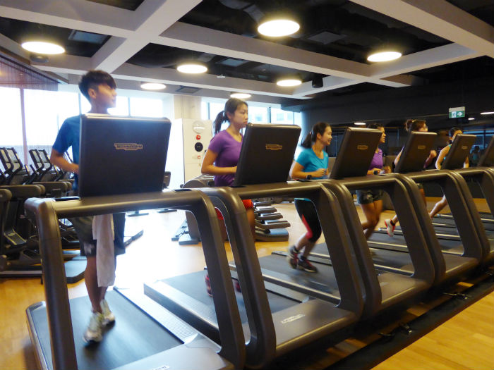 The treadmill workout is in full swing.  (Photo Credit: Virgin Active).