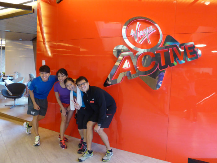 Feeling happy after completing our first session with Virgin Active. (Photo Credit: Virgin Active).