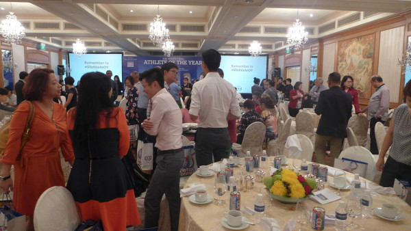 Guests at the award ceremony luncheon.