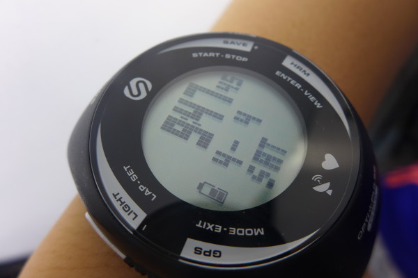 Wearing the SOLEUS GPS PULSE out for a run.