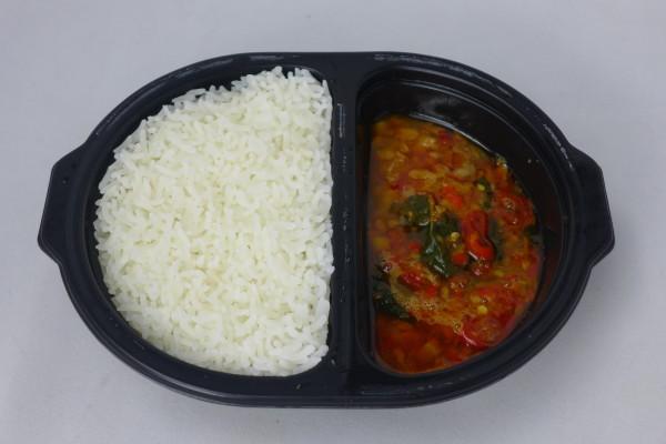 Stir Fried Chicken & Basil With Rice.