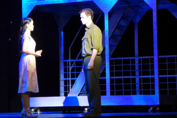 Lee May and Lt. Flynn during their heartbreaking romantic duet.