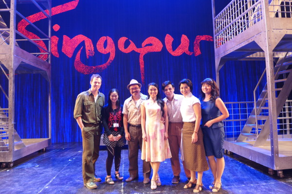 Me with the cast of Singapura: The Musical.