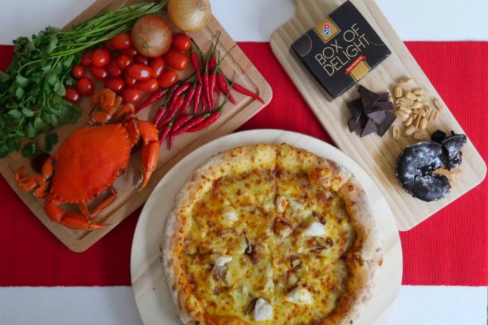 Domino's launches the Chilli Crab Pizza and Peanut Butter Chocolate Lava Cake.