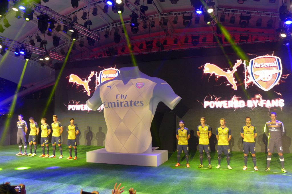 Unveiling of the Puma Arsenal Away Kit.