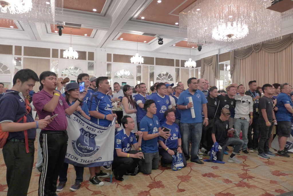 Everton supporters in Singapore.
