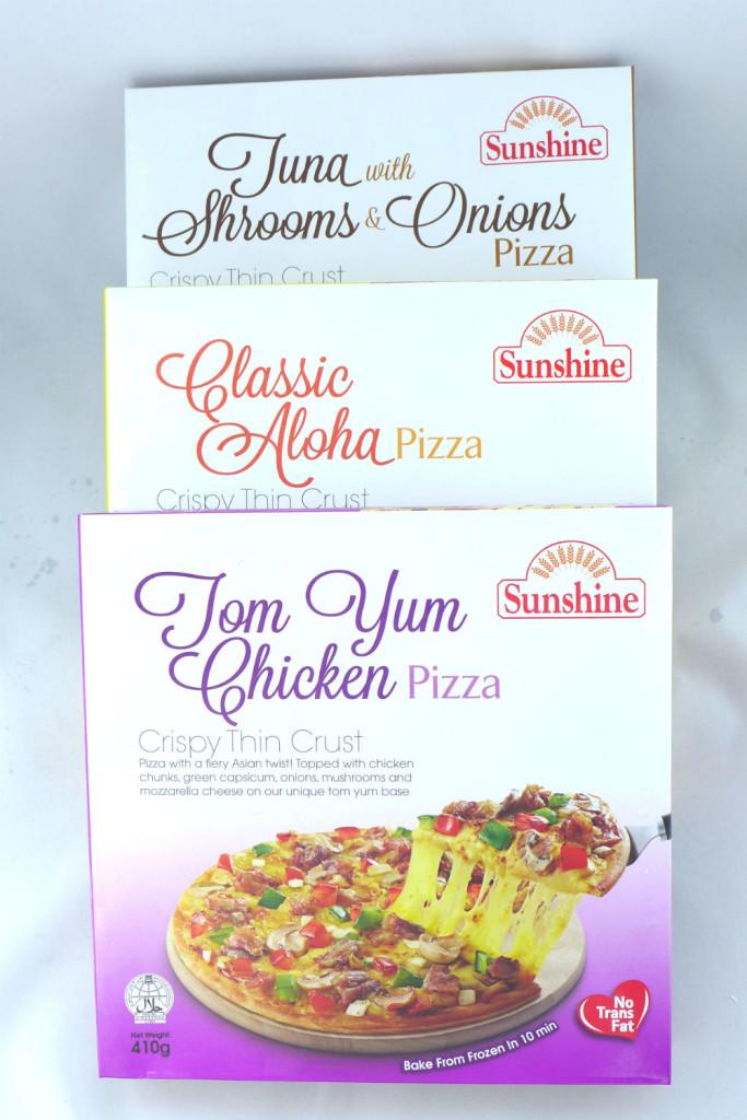 Sunshine's frozen pizzas.