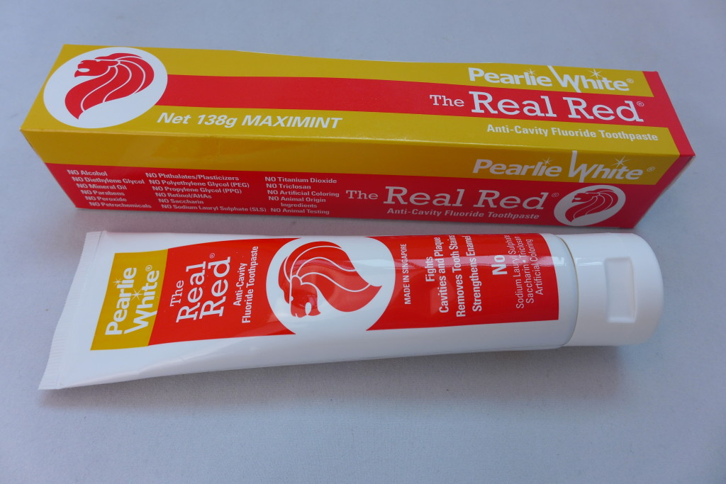 The Real Red toothpaste.