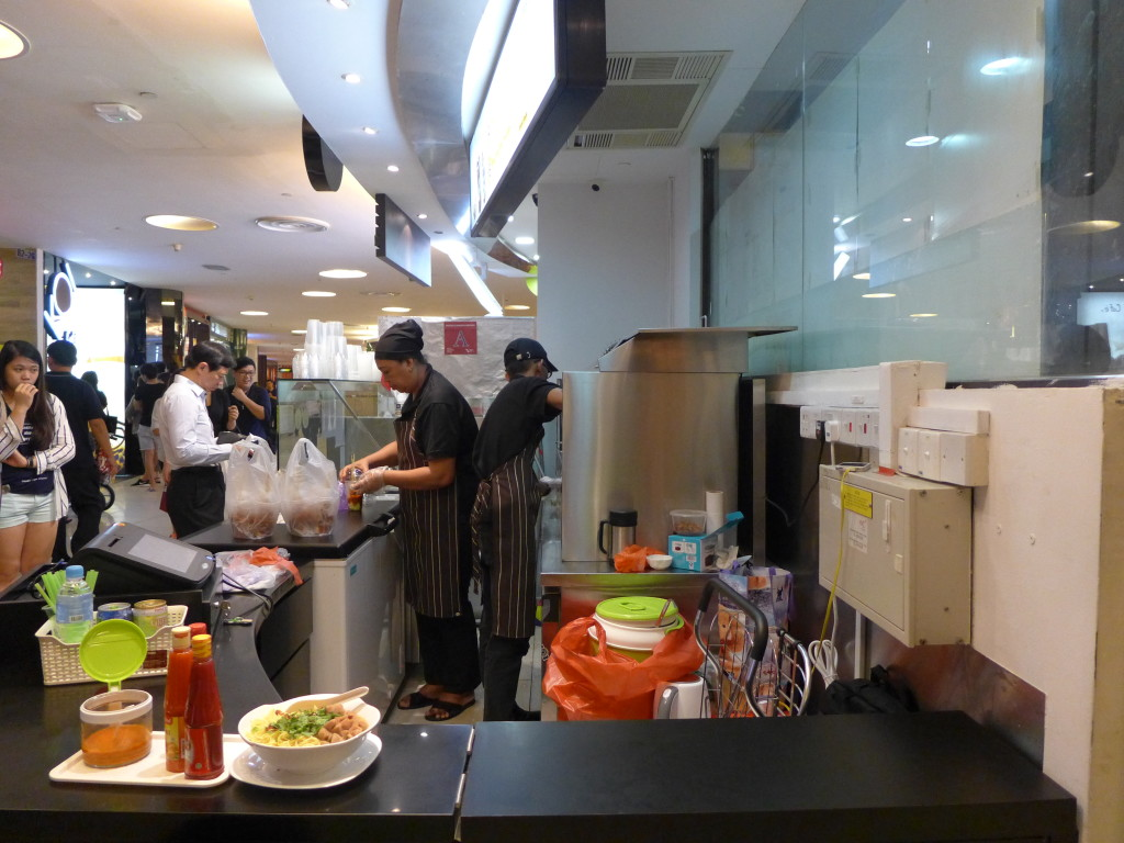 The little satay stall at VivoCity.