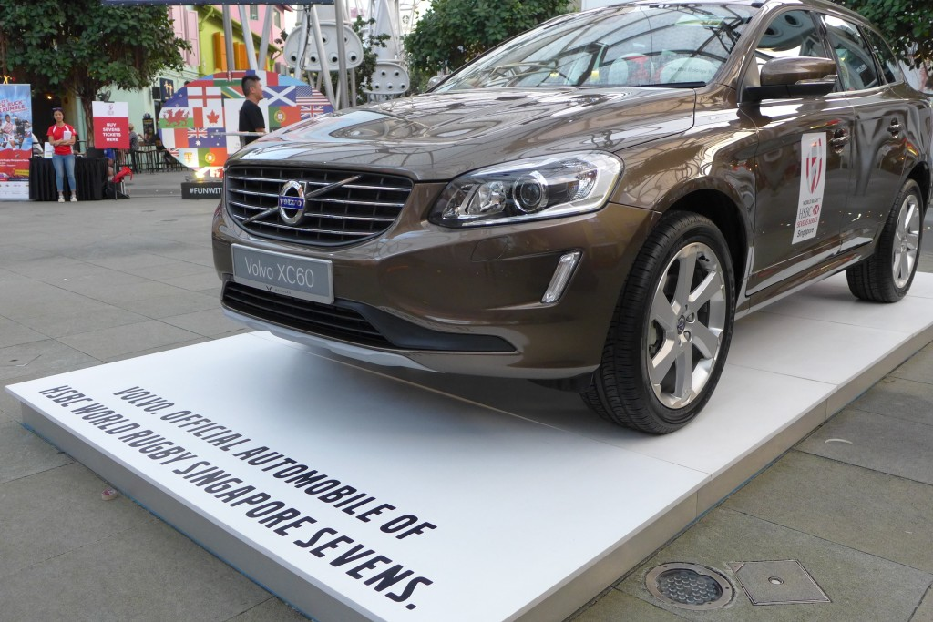 Rugby fans had the opportunity to guess how many balls were in this Volvo car.