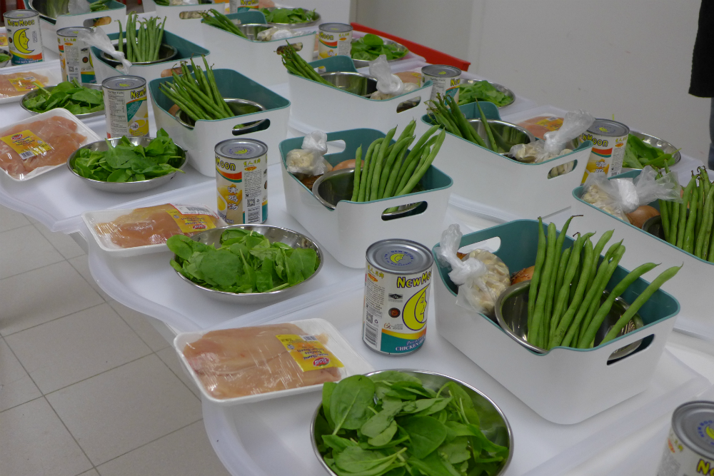 Participants were given ingredients high in nitrates to cook with.