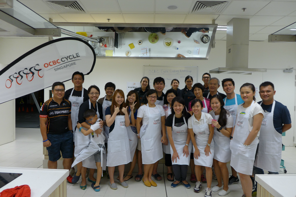These OCBC Cycle participants took part in a Healthy Cooking workshop yesterday.