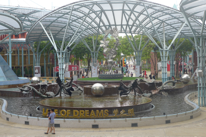 Spin PokeStops and evolve Voltorbs/Magnemites at Sentosa.