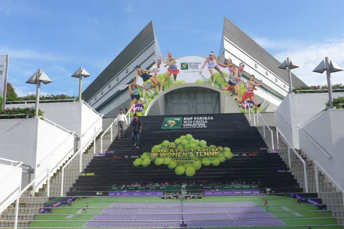 We were invited to a behind-the-scenes session of the 2016 WTA Finals.