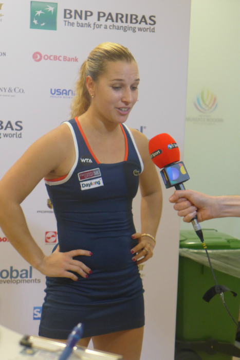 Professional tennis players must be able to handle media pressure, as well as being able to train and play well.
