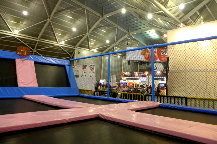 Have a go on the trampolines.
