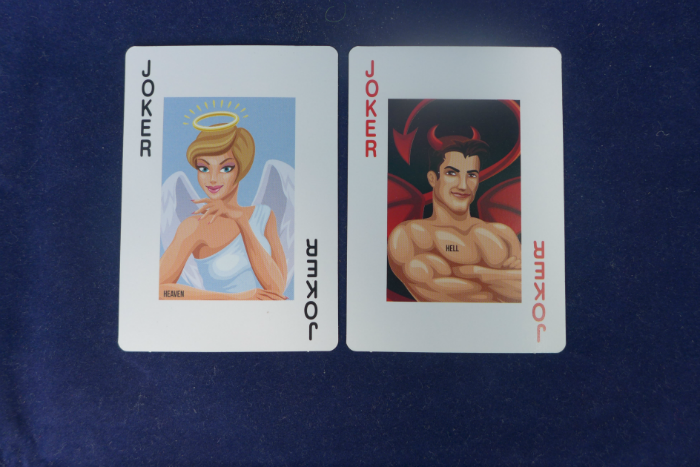 Angel & Devil Joker cards.