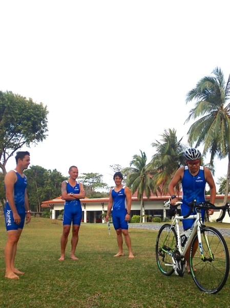 Practicing Transition techniques at a Triathlon Camp by Journey Fitness Company.