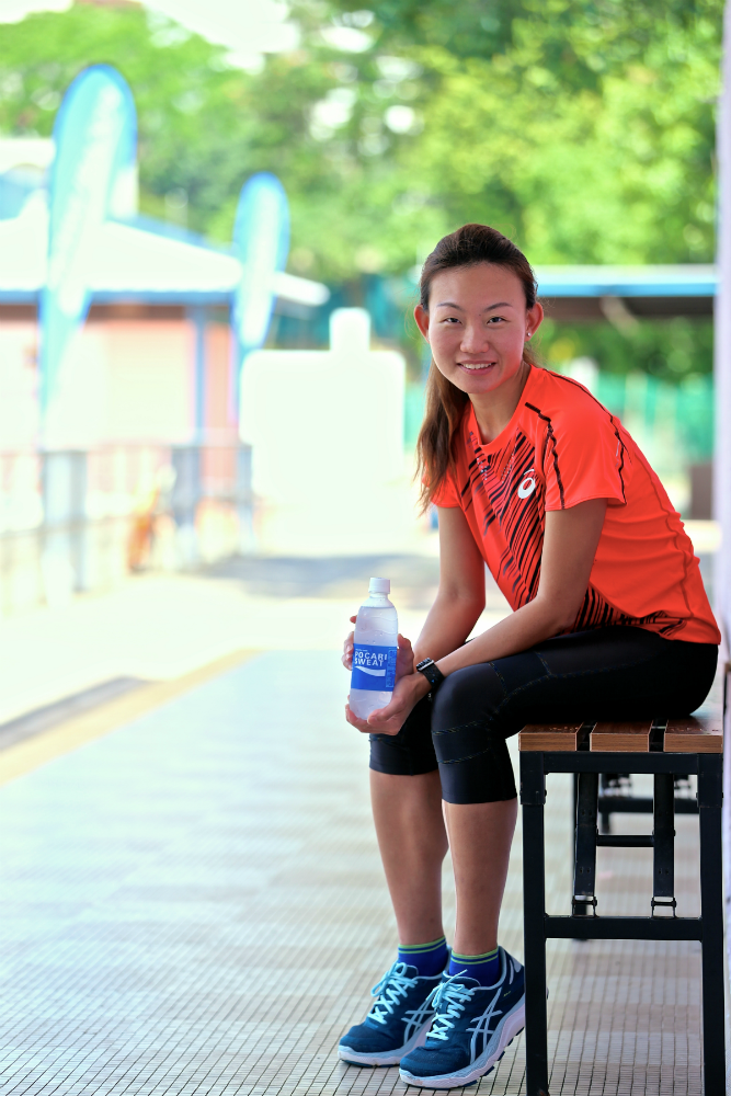 Pocari Sweat sponsored marathoner, Neo Jie Shi. [Photo Credit to Pocari Sweat]