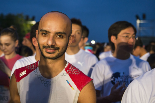 Paviter Singh at the starting line of the Wings for Life World Run on May 3, 2015 in Yilan, Taiwan. Photo by Aitor Alcalde / Power Sport Images