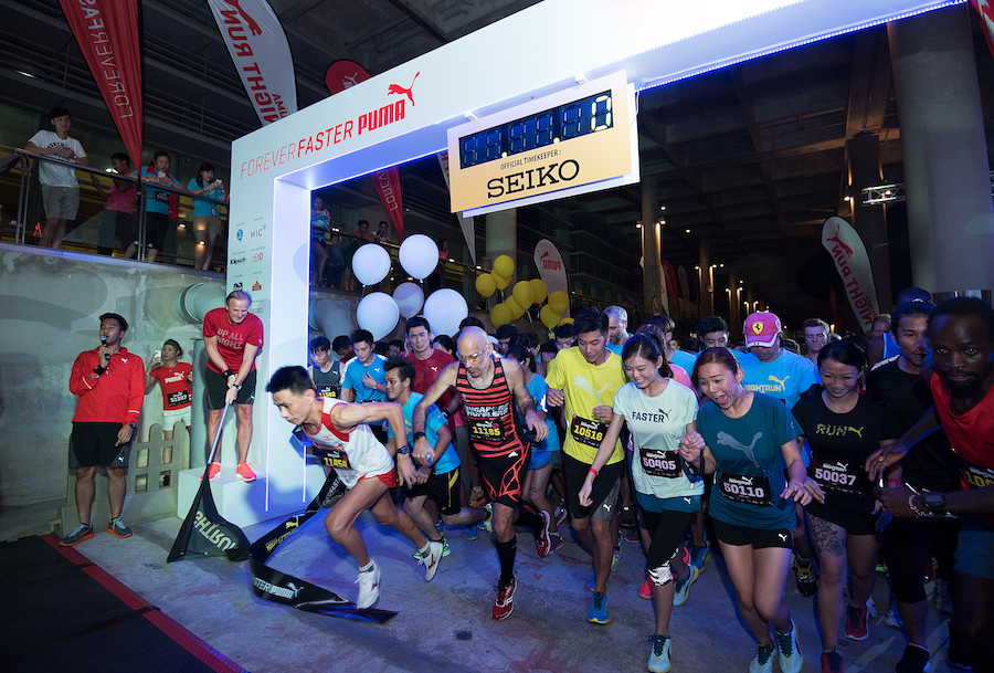The 2015 edition of the Puma Night Run flagged off normally despite haze scare. [Photo Credit: [Puma Singapore]