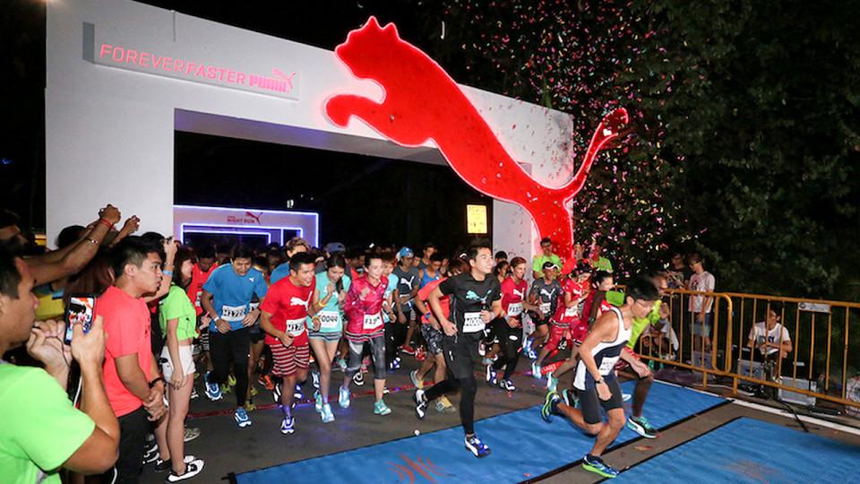 The Puma Night Run returns to Singapore this Saturday. Credit: RunSociety.