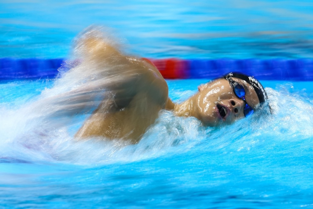 Pang Sheng Jun swims in the men's 11 & over 1500m freestyle event during the Singapura Finance 47th Singapore National Age Group Swimming Championships at OCBC Aquatic Centre on March 16, 2016 in Singapore.