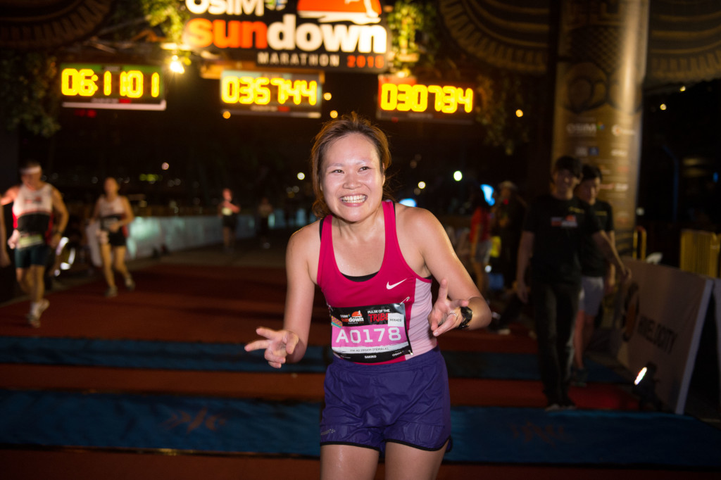 Matsumoto Sakiko was confident that she would win. Photo Credit: OSIM Sundown Marathon.