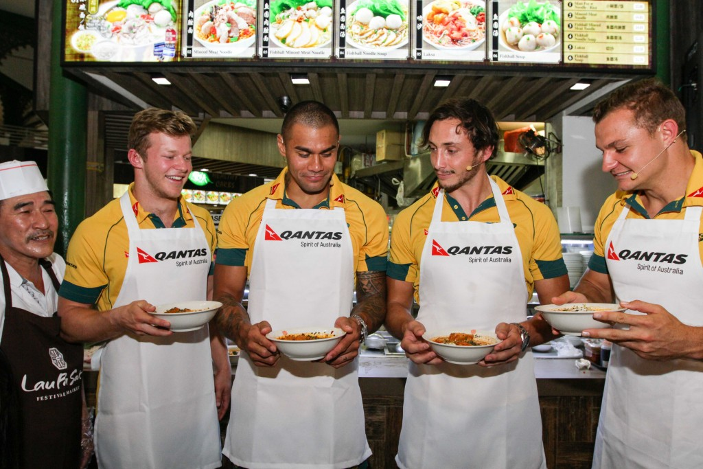 Four players from Australia's National Rugby Team became chefs. [Photo credits to Song Tao, Imagica Production.]