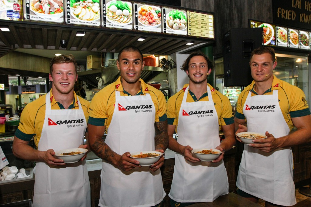 The four players were speaking on the sidelines of the Laksa Making Challenge by Qantas. [Credit to Song Tao, Imagica Production]