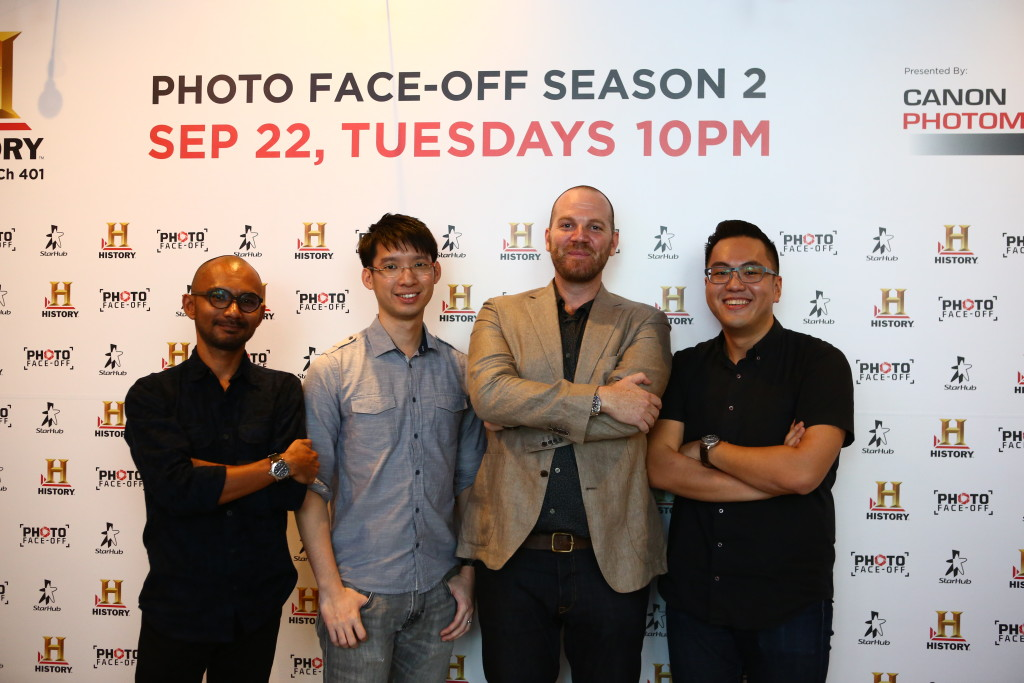 Justin Mott and the three Singaporeans. photo by: HISTORY