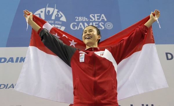 Quah Ting Wen won eight medals this SEA Games. Photo by: Singapore SEA Games Organising Committee
