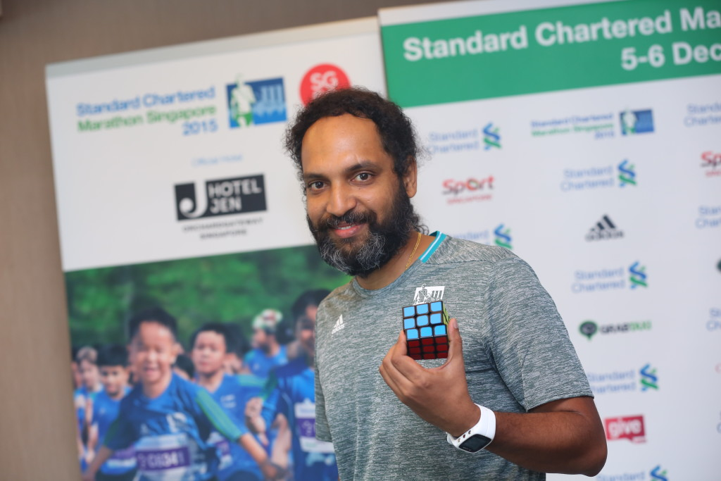 Vijayan will aim to break a Rubik's Cube record at SCMS 2015. (Photo credit to SCMS).
