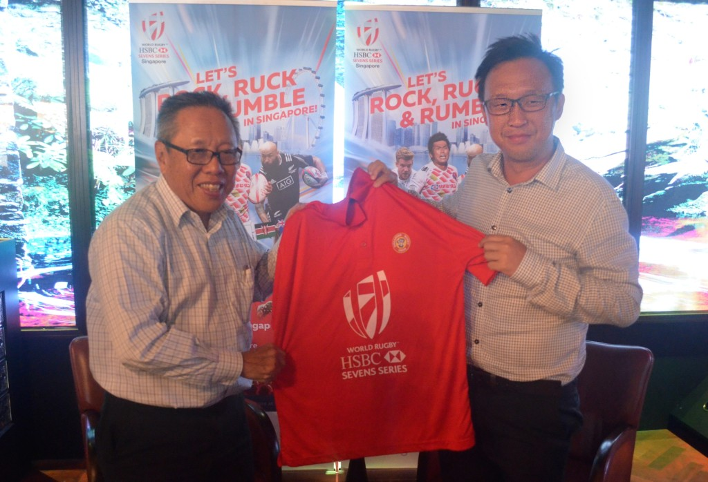 Low Teo Ping [left] and Adrian Lai [right] shared the latest update at a Rugby Singapore press conference yesterday.