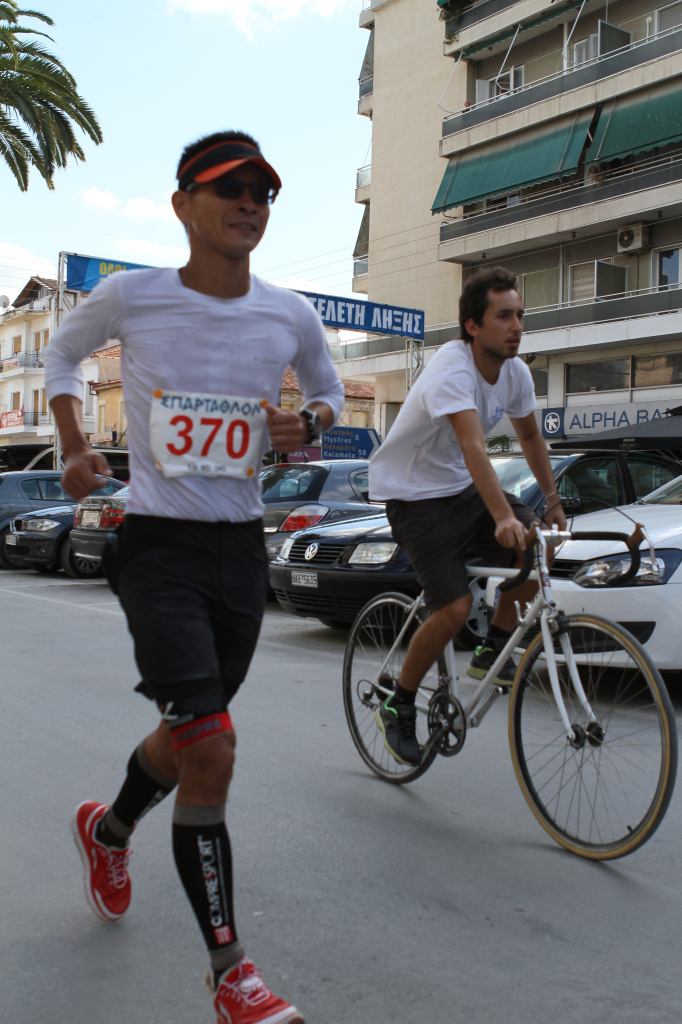 Kai Wei is about to complete the gruelling Sparathlon.