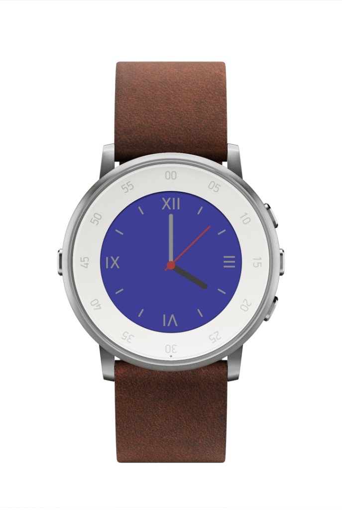 The Pebble Time Round is the world's lightest and slimmest smartwatch.