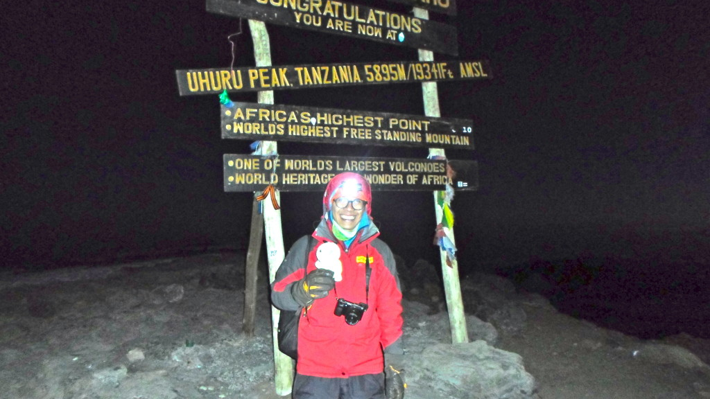 Mount Kilimanjaro (5895m) Summit in Africa in June 2015. It is also the highest peak in Africa and one of the 7 summits.